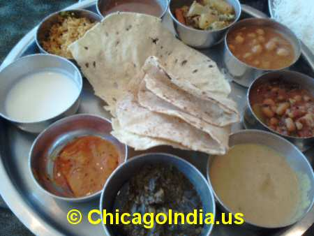 Indian Vegetarian Thali image © ChicagoIndia.us