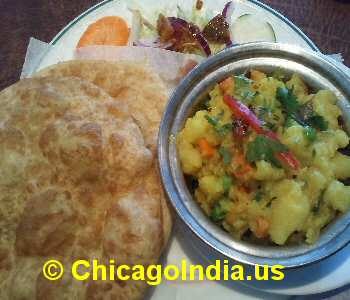 Shree Vegetarian Westmont IL - Poori Potato