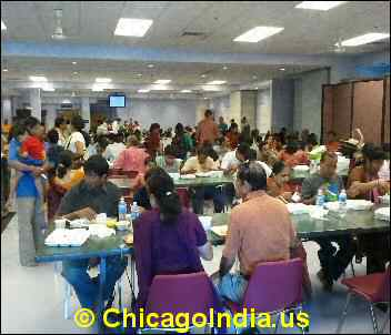 Busy Canteen at SVS Temple Aurora